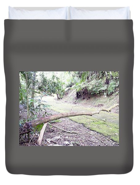San Andres Echologycal Path At Guilarte's Forest Duvet Cover