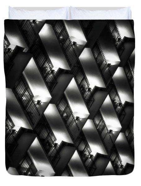 San Antonio At Night Duvet Cover by Eduard Moldoveanu