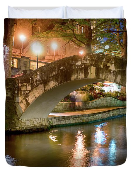 San Antonio River Walk V1 Duvet Cover