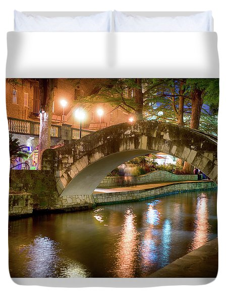 San Antonio River Walk V1 Duvet Cover