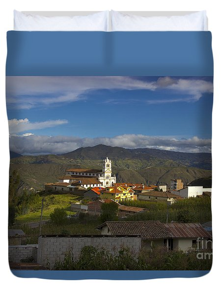 San Bartolomeo Is Famous For It's Guitars Duvet Cover by Al Bourassa