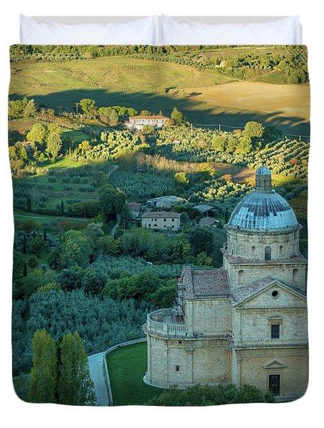 Duvet Cover featuring the photograph San Biagio Church by Brian Jannsen