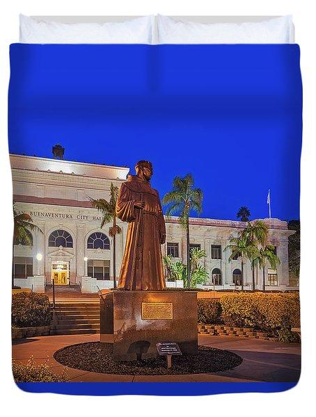 Duvet Cover featuring the photograph San Buenaventura City Hall by Susan Candelario