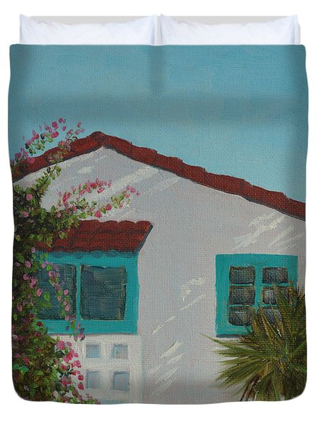 San Clemente Art Supply Duvet Cover