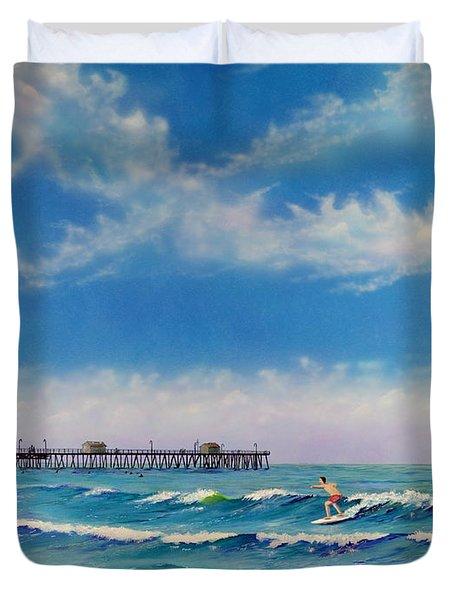 San Clemente Surf Duvet Cover