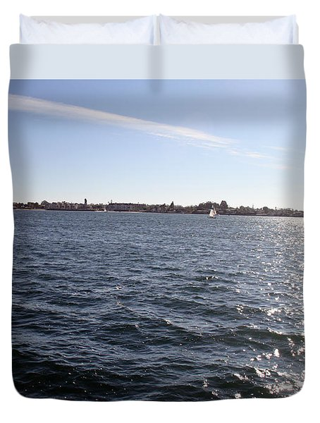Duvet Cover featuring the photograph San Diego Bay by Christopher Woods
