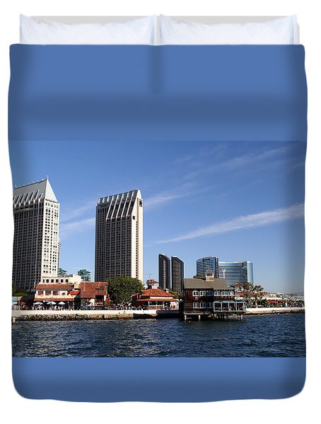 Duvet Cover featuring the photograph San Diego by Christopher Woods