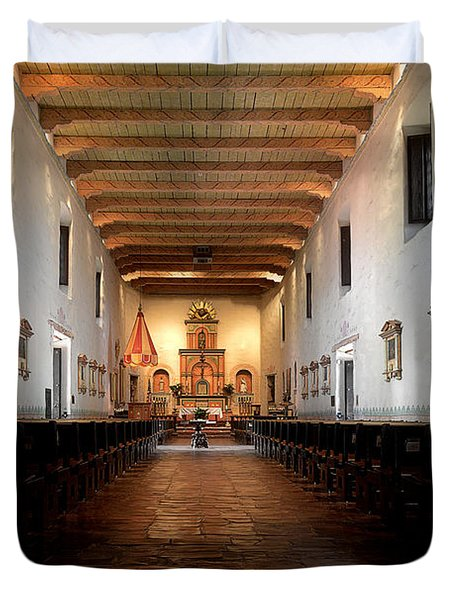 Duvet Cover featuring the photograph San Diego De Alcala by Christine Till