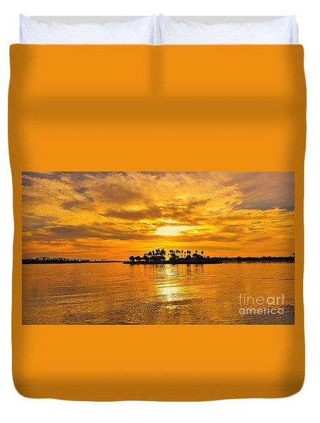 San Diego Golden Sky By Jasna Gopic Duvet Cover