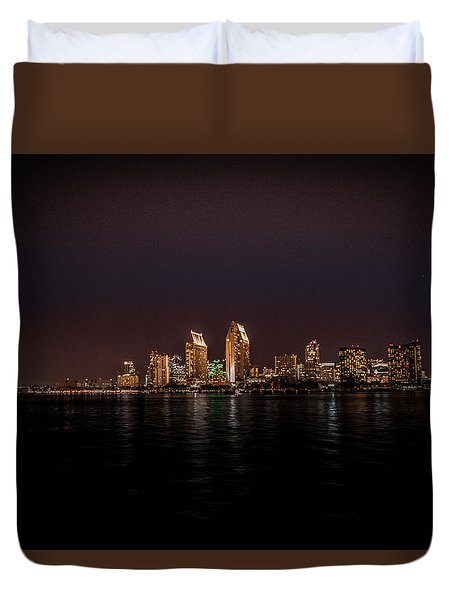 San Diego Harbor Duvet Cover