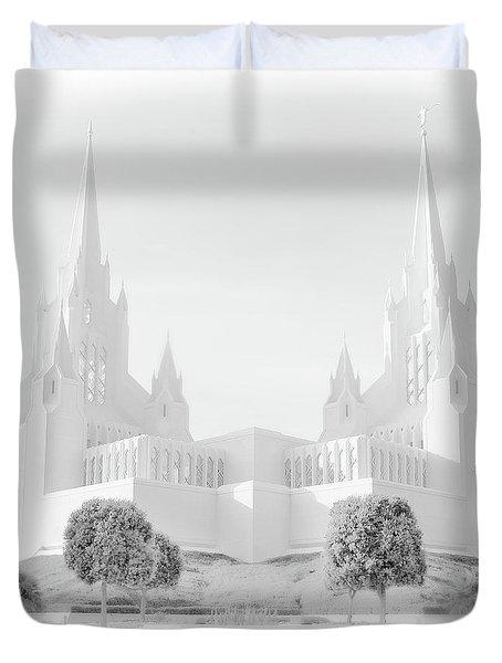 San Diego Lds Temple Duvet Cover