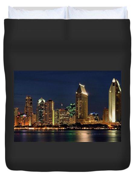 San Diego Night Duvet Cover