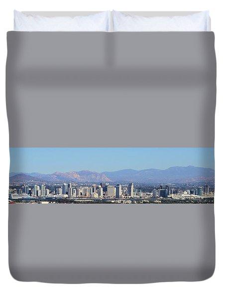 San Diego Pano Duvet Cover