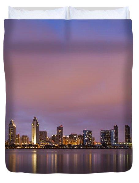 San Diego Skyline Duvet Cover by Adam Romanowicz