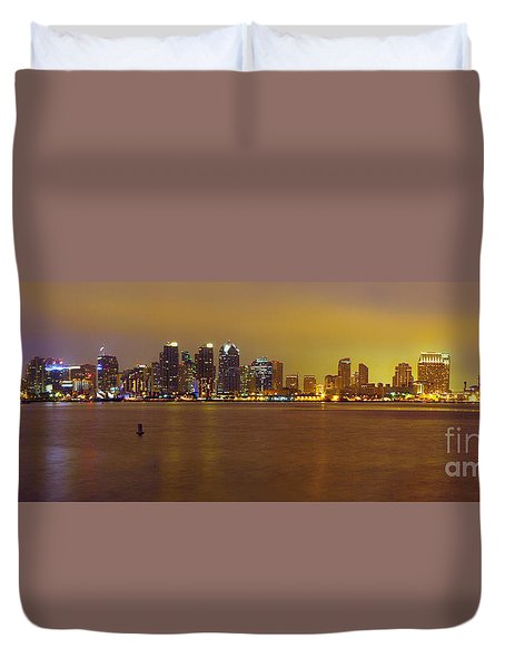 San Diego Skyline California Duvet Cover by Wernher Krutein