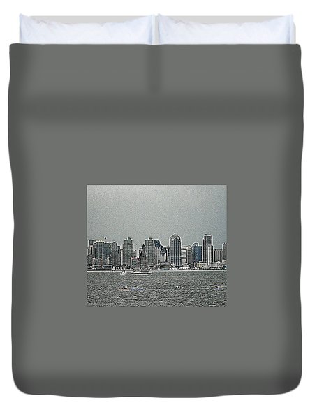 San Diego Waterfront Duvet Cover