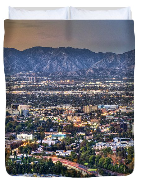 San Fernando Valley Vertical Duvet Cover by David Zanzinger