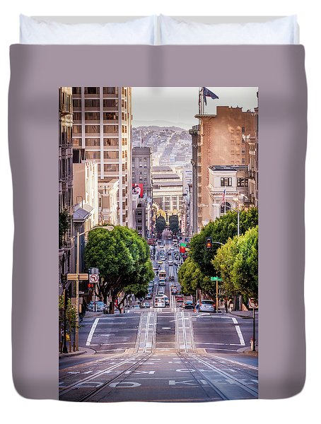 San Fran Cable Car Duvet Cover
