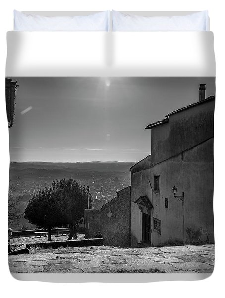 San Francesco Monastery - Fiesole, Italia. Duvet Cover