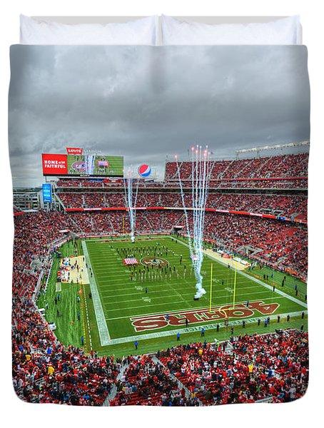 San Francisco 49ers Levi's Stadium Duvet Cover