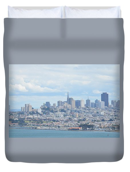Duvet Cover featuring the photograph San Francisco by Alex King