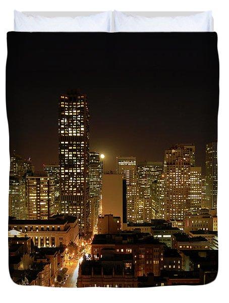 San Francisco At Night Duvet Cover