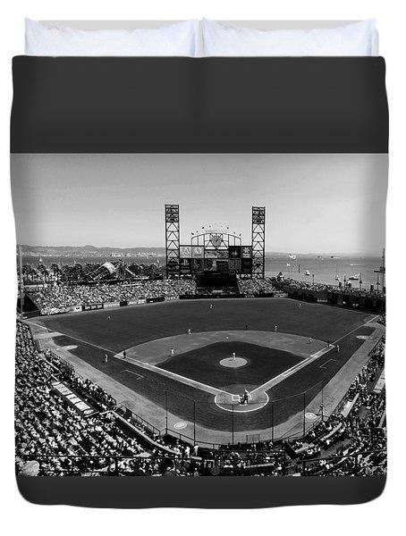 San Francisco Ballpark Bw Duvet Cover