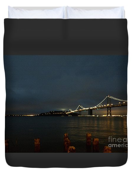 San Francisco Bay Bridge Duvet Cover