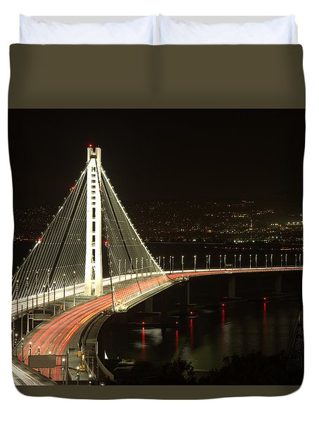 San Francisco Bay Bridge New East Span Duvet Cover