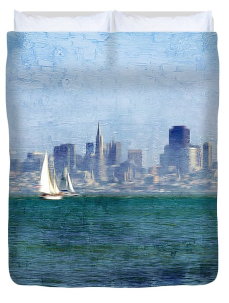 San Francisco Bay Duvet Cover