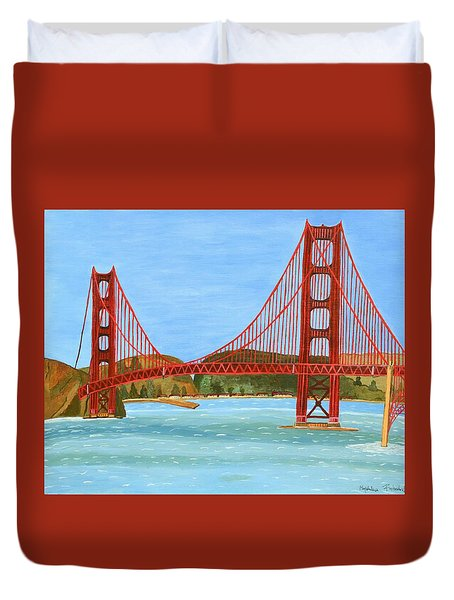 San Francisco Bridge  Duvet Cover