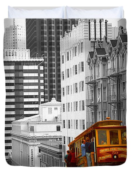 San Francisco Cable Car - Highlight Photo Duvet Cover