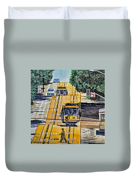 San Francisco Cable Cars Duvet Cover