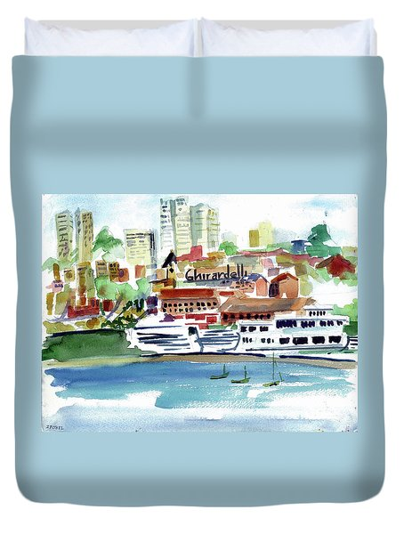 San Francisco Cityfront From Aquatic Park Duvet Cover
