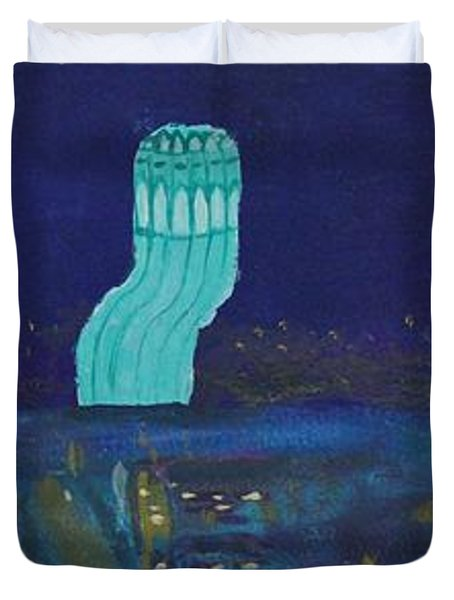 San Francisco Coit Tower Abstract Duvet Cover