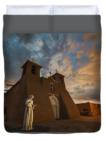 San Francisco De Assisi Mission Duvet Cover