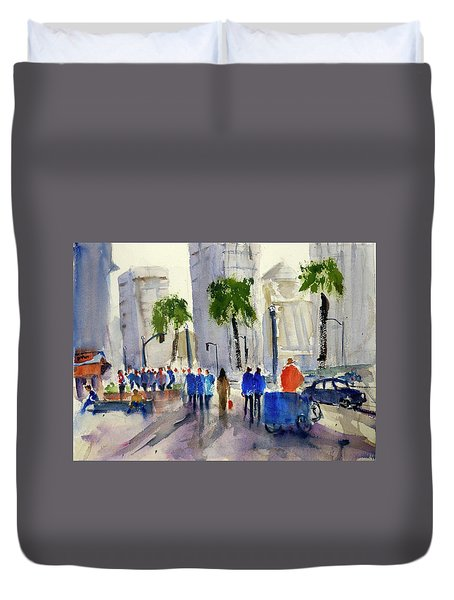 San Francisco Embarcadero Duvet Cover
