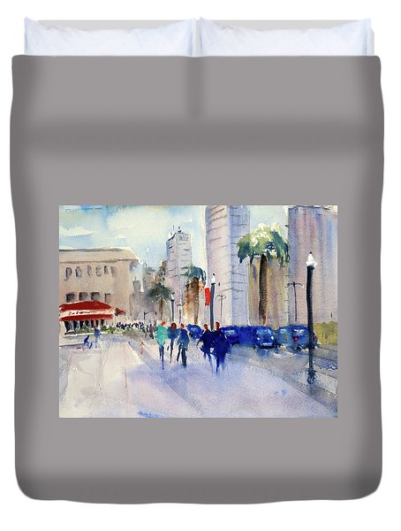 San Francisco Embarcadero1 Duvet Cover by Tom Simmons