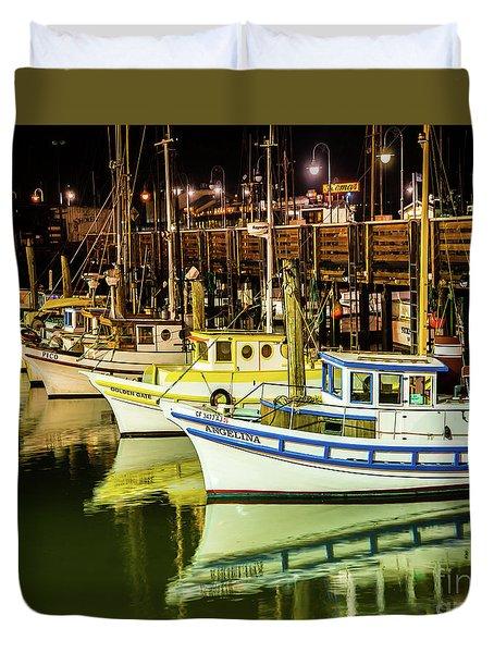 San Francisco Fisherman's Wharf Duvet Cover