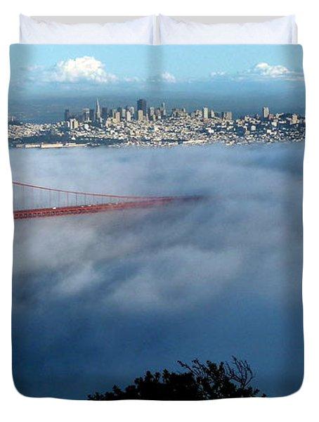 San Francisco Golden Gate Bridge Panoramic  Duvet Cover