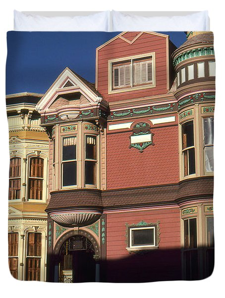 San Francisco Haight Ashbury - Photo Art Duvet Cover