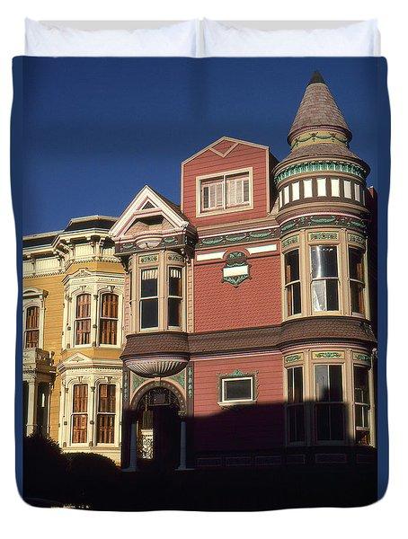 San Francisco Haight Ashbury - Photo Art Duvet Cover