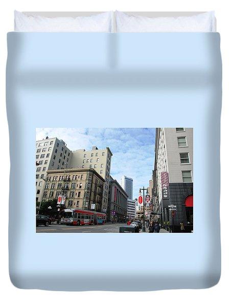 San Francisco - Jessie Street View Duvet Cover