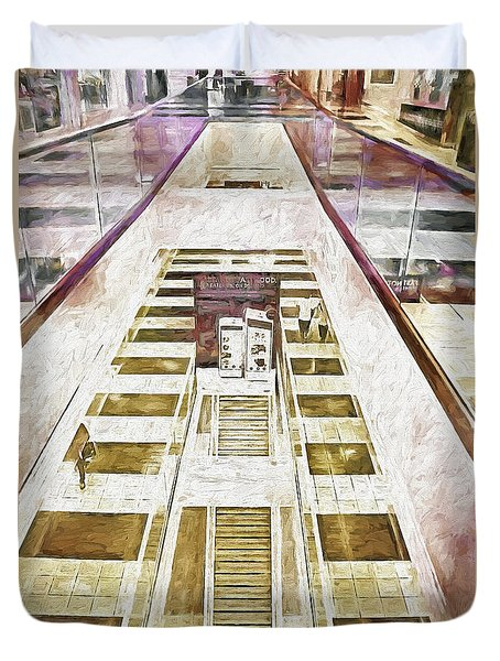 San Francisco Mall Duvet Cover