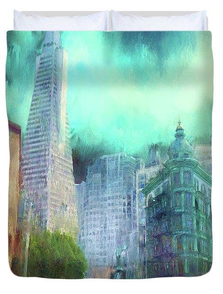 San Francisco Duvet Cover by Michael Cleere