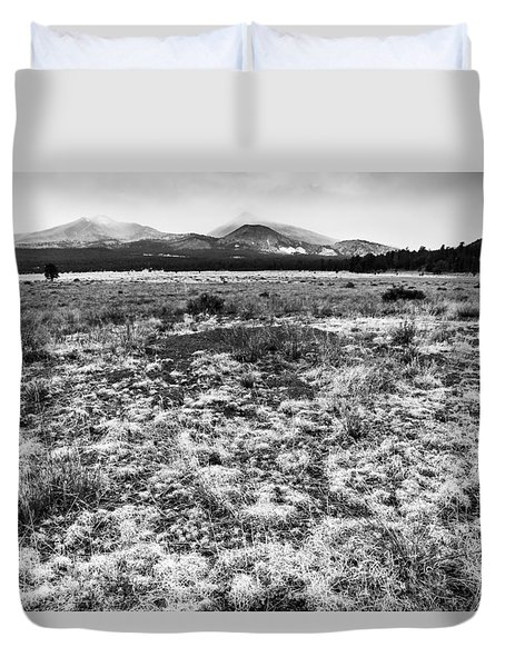 San Francisco Mountains Arizona Duvet Cover