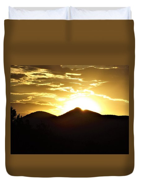 San Francisco Peaks At Sunset Duvet Cover