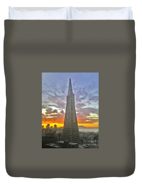 San Francisco Pyramid Duvet Cover