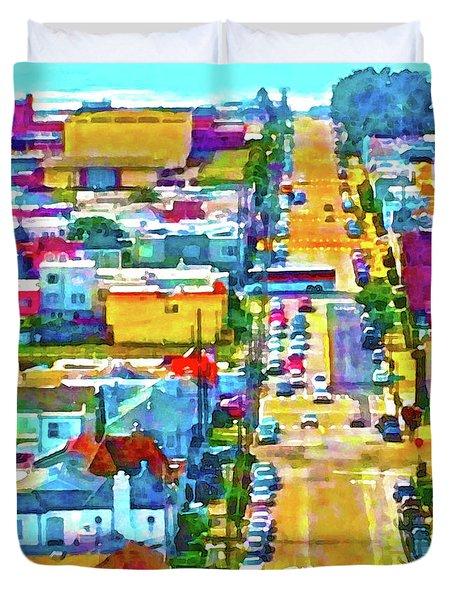 San Francisco Quintara View Duvet Cover