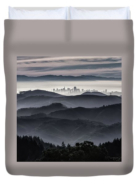 San Francisco Seen From Mt. Tamalpais Duvet Cover